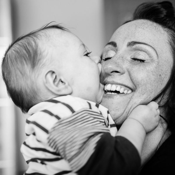 mum and baby giggling